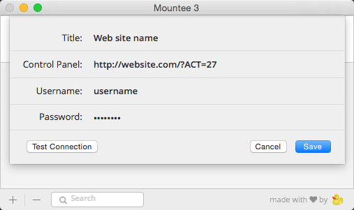 Connecting to your site with Mountee